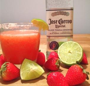 Strawberry-lime margarita